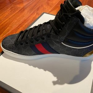 GUCCI Shoes - GUCCI MEN GG SUPREME HIGH TOP SNEAKER